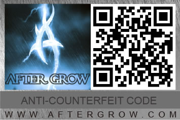 Anti-counterfeiting code for AFTER GROW